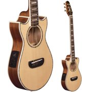 Lindo Voyager SE Solid Spruce Top Electro-Acoustic Travel Guitar with BS3M Blend Preamp/LCD