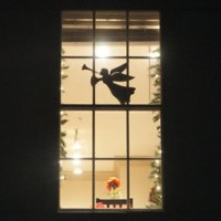 product image teak isle christmas window decoration flying angel - Teak Isle Christmas Decorations