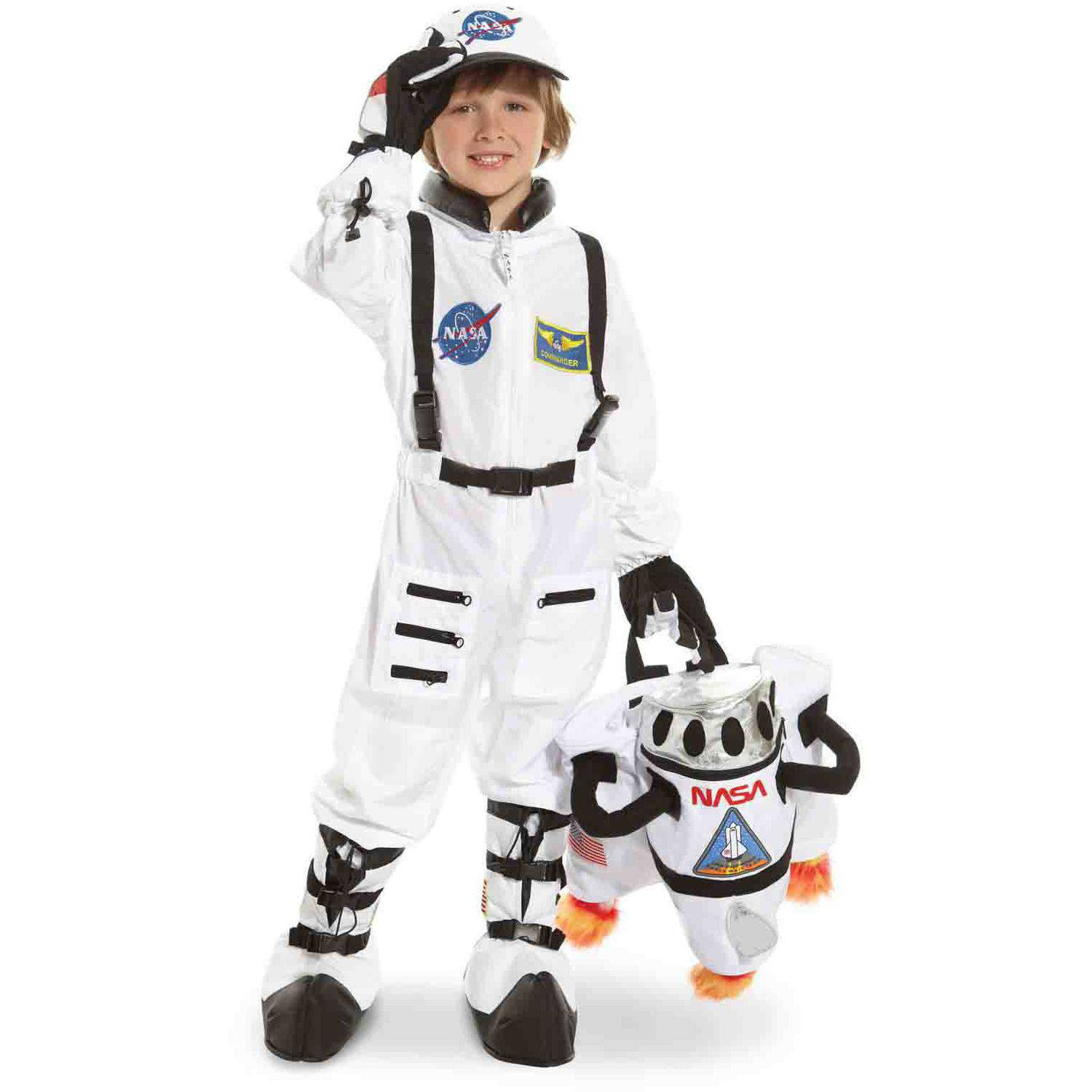 NASA Jr. Astronaut Suit White Toddler Halloween Costume