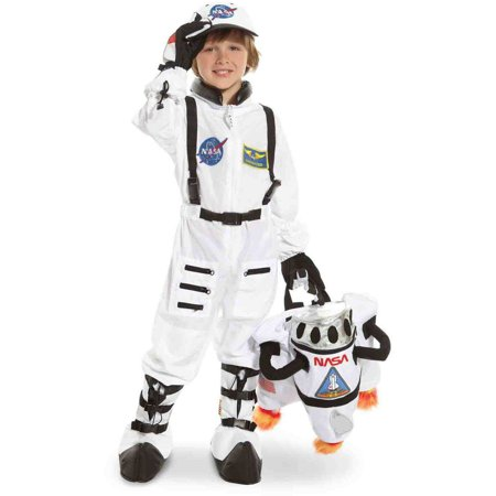 NASA Jr. Astronaut Suit White Toddler Halloween Costume](Halloween Gift Basket For Toddlers)