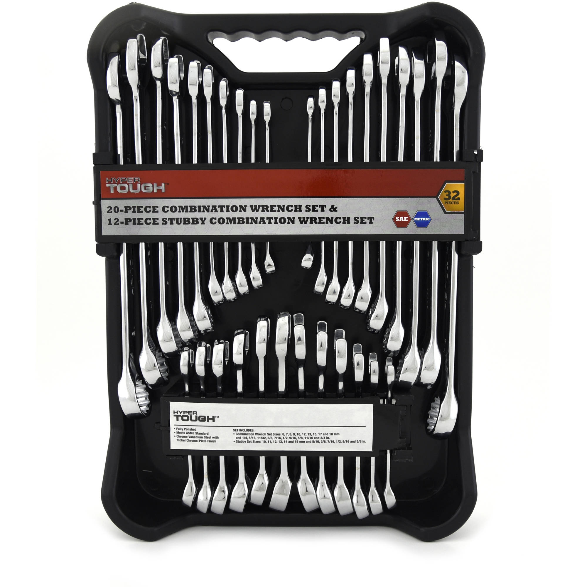 Hyper Tough 32-Piece Combination Wrench Set