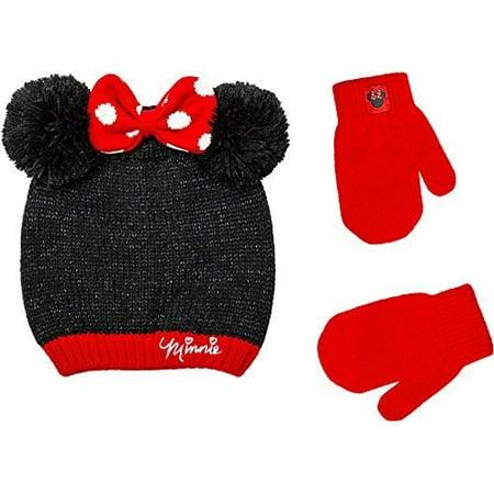 c111cccbe3d MINNIE MOUSE AP - MINNIE MOUSE AP Minnie Infant Toddler Girl Hat and Mitten  Set - Walmart.com