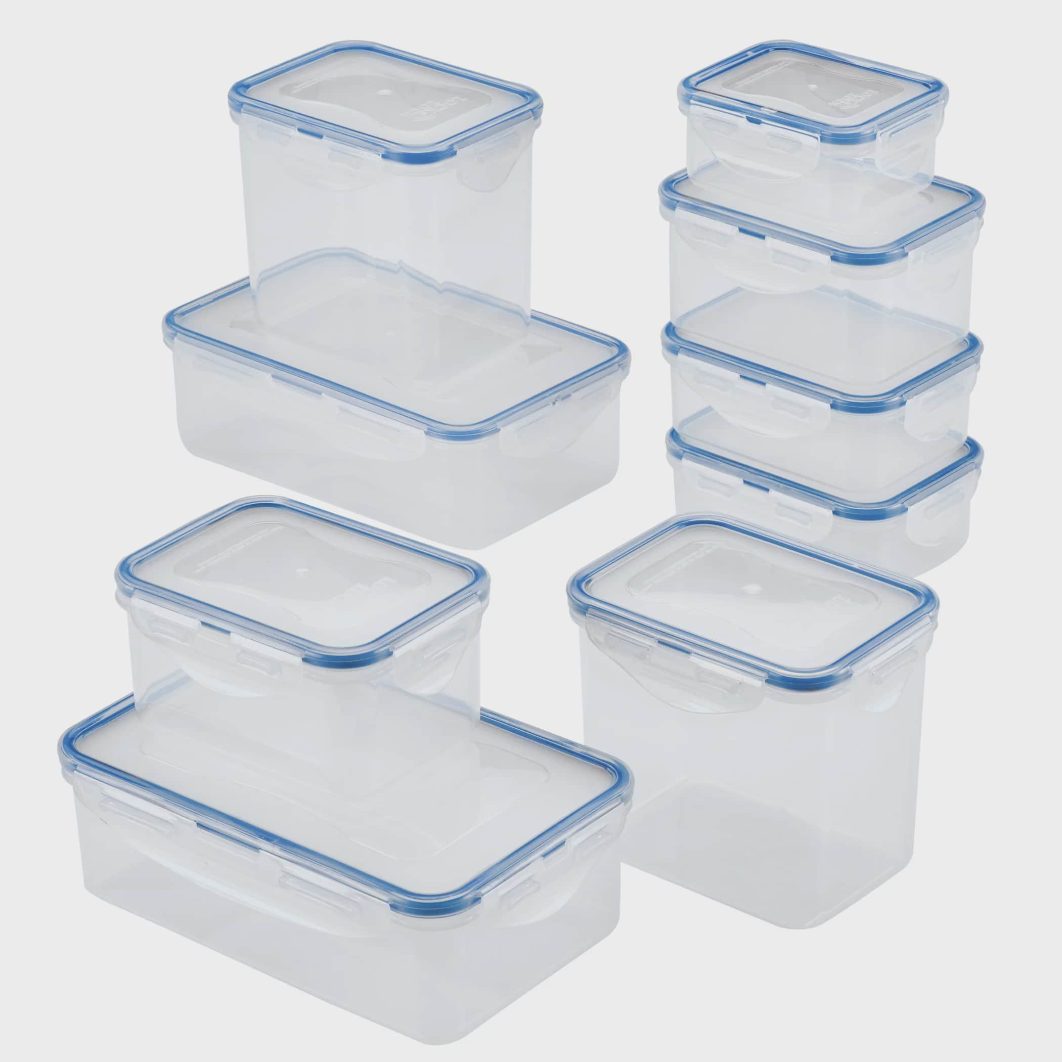 Set of 10 Rectangle Plastic Box Dollhouse Miniatures Removable lid Food Bakery