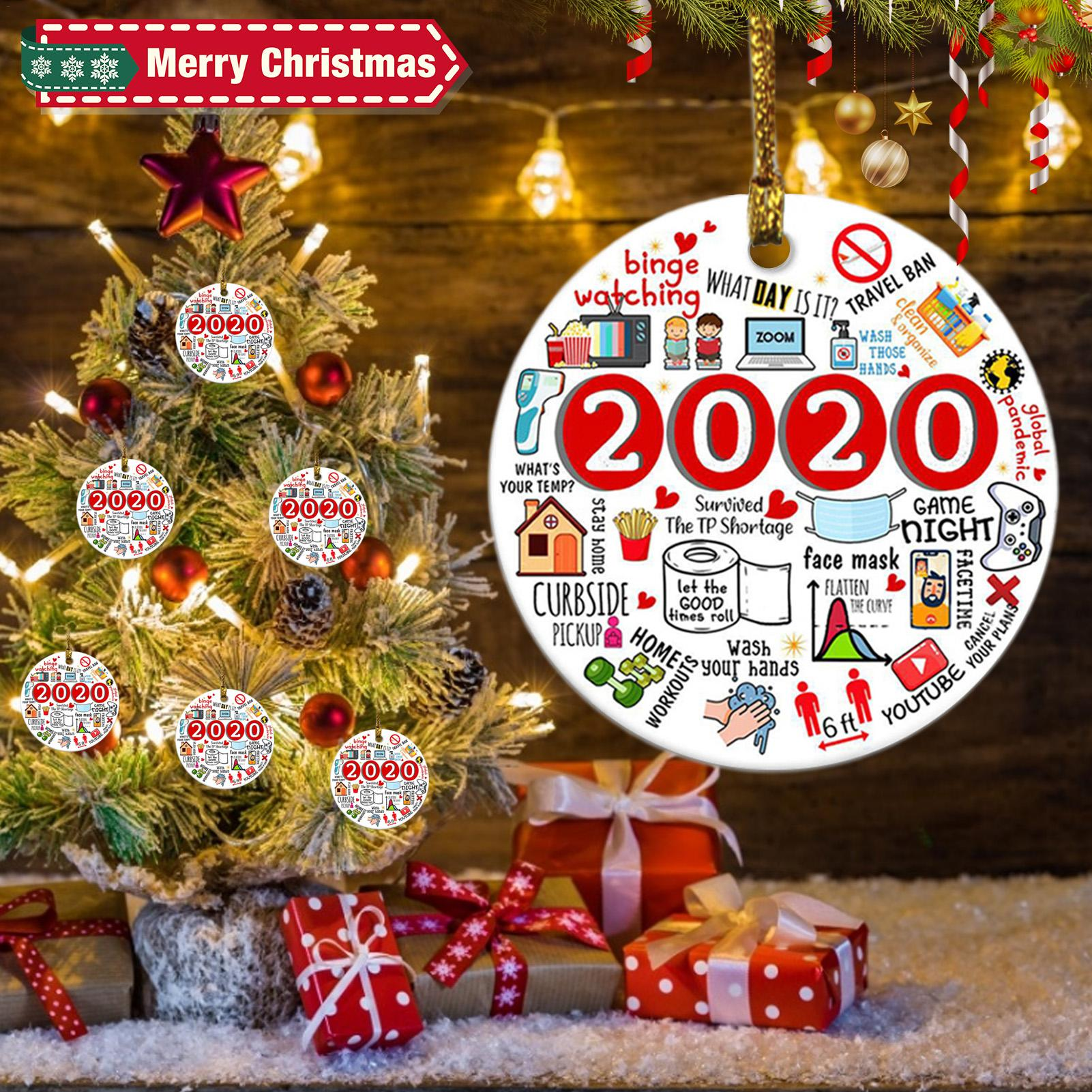 Ornaments 4 Pcs Remembering 2020 Ornament Year of Quarantine ...