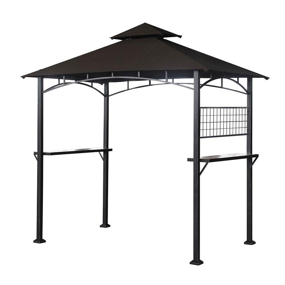 bbq grill dark walmart chocolate canada gazebo in awning