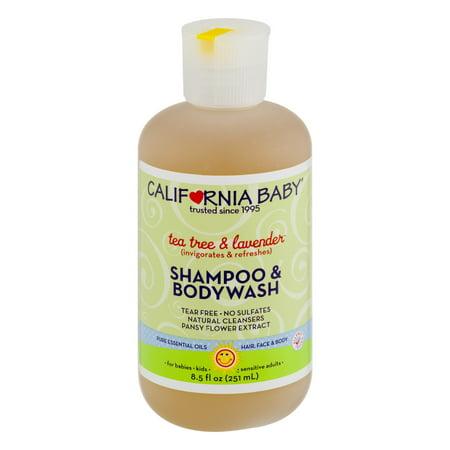 California Baby Shampoo   Bodywash Tea Tree   Lavender  8 5 Fl Oz
