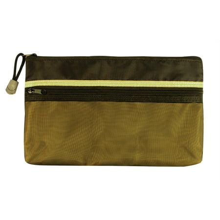 "5"" x 9"" Dual Zippered Pocket Fabric Mesh Bag"