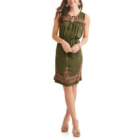 Women's Embroidered Shift Dress