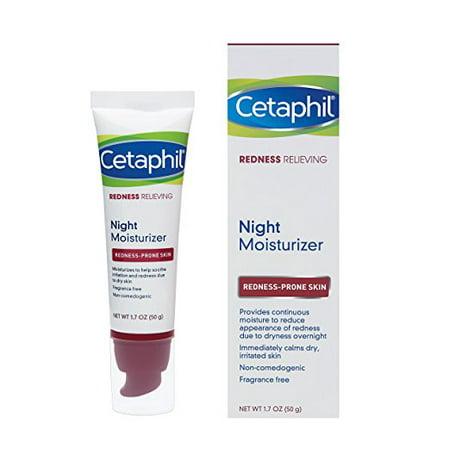 Cetaphil Redness Relieving Night Moisturizer, For Redness Prone Skin, 1.7 Fl