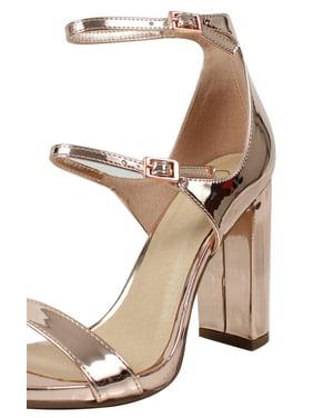 2fa7e7a677124 Product Image Delicious Women s Open Toe Triple 3 Straps Chunky Block Heel  (8.5 B(M)