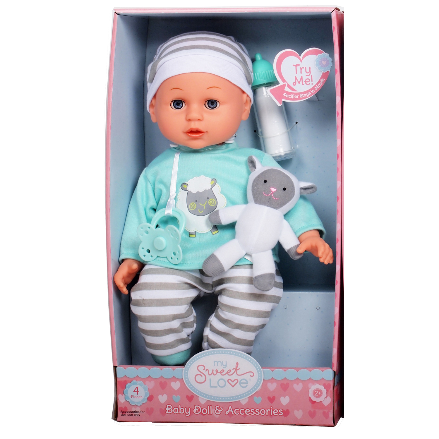 MY SWEET LOVE 14 INCHES BABY MAGGIE DOLL. (2 ASSORTED STYLES)