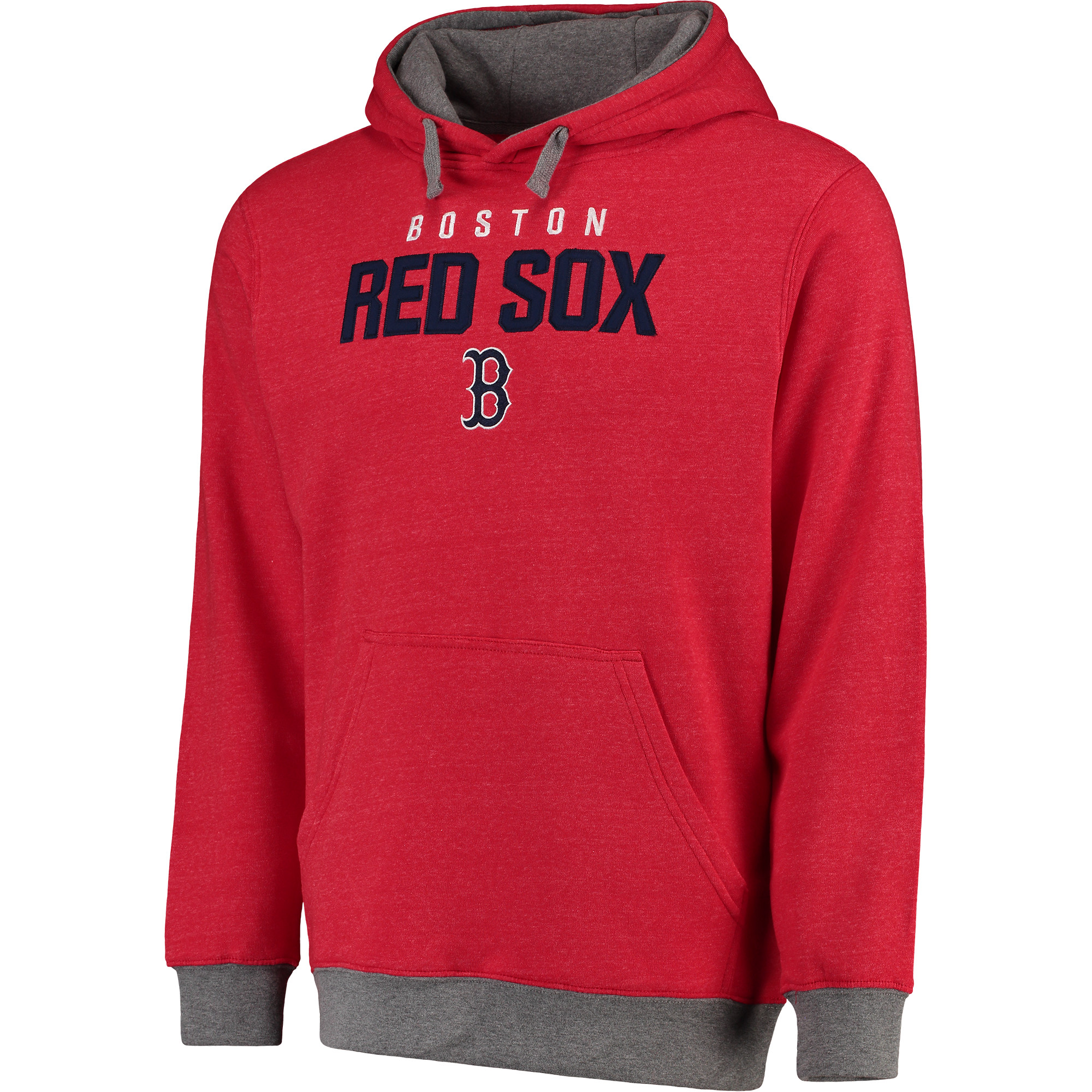 Men's  Red Boston Red Sox Elevation Tri-Blend Pullover Fleece Hoodie