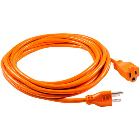 GE Indoor Outdoor 25ft Grounded Heavy Duty Extension Cord Orange 51924