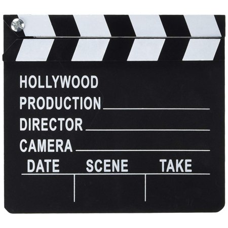 Hollywood Director's Film Movie Slateboard Clapper, Approximately 7 by 8 inches By Rhode Island Novelty (Movies In C)