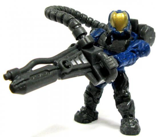 Mega Bloks Halo Loose Flame Marine 2 Minifigure [Blue Loose] by
