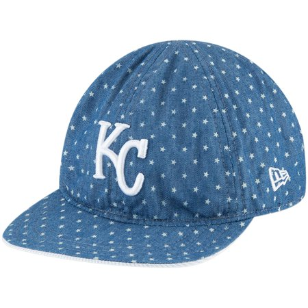 Kansas City Royals New Era Infant Flip 9TWENTY Adjustable Hat - Denim White  - OSFA - Walmart.com 3e42b638b590