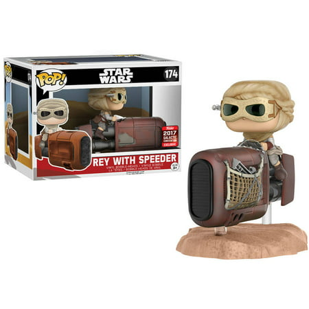 Funko POP! Deluxe Star Wars Episode VII The Force Awakens Rey Vinyl Figure with Speeder Galactic, Convention Exclusive