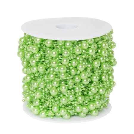 62 FT Tea Green Pearl Garland String for Wedding Bridal Corsages Decorations](Pearl Garland)