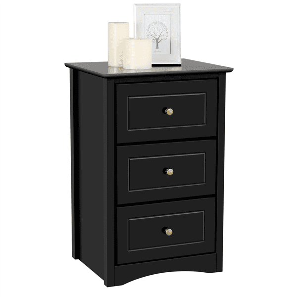 Topeakmart Three Drawers Nightstand Table Nightstand Tall