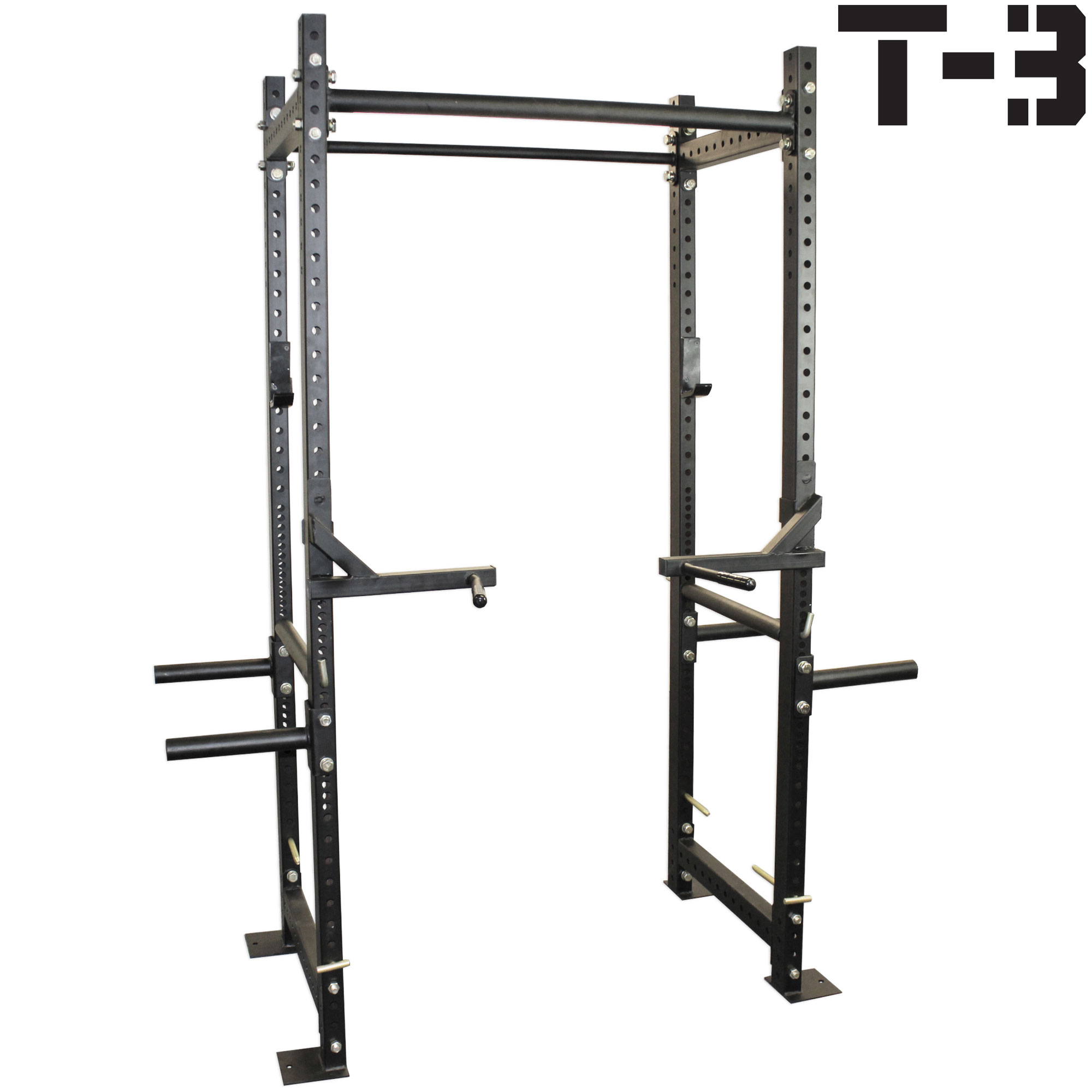 Titan T-3 Series HD Power Rack with Dip Bars Squat Deadlift Lift Cage cross fit