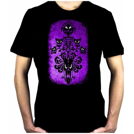 Haunted Mansion Wallpaper Ghoul Men's T-Shirt Alternative Clothing Halloween - Scary Halloween Wallpaper And Screensavers