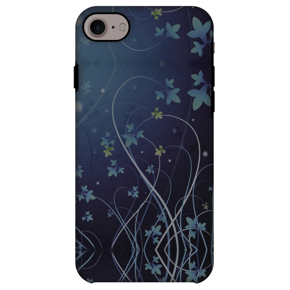 iPhone 8 ShockProof Case, Premium Handcrafted Printed Designer Dual Layer Case Back Cover for iPhone 8 - Midnight Lily