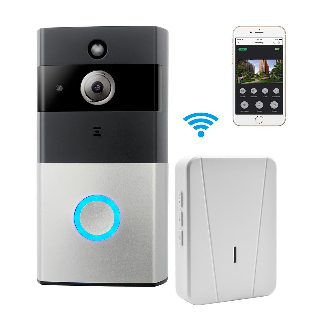 Tagital WIFI Video Doorbell, Smart Doorbell 720P HD Security Camera with Chime and 16G Memory Storage, Real-Time Two-Way Talk and Video