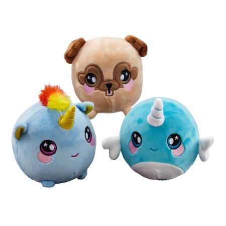 Squeezamals, 3-Pack Bundle (Nadia Narwhal, Beatrice Unicorn, Bryce Pug) - 3.5
