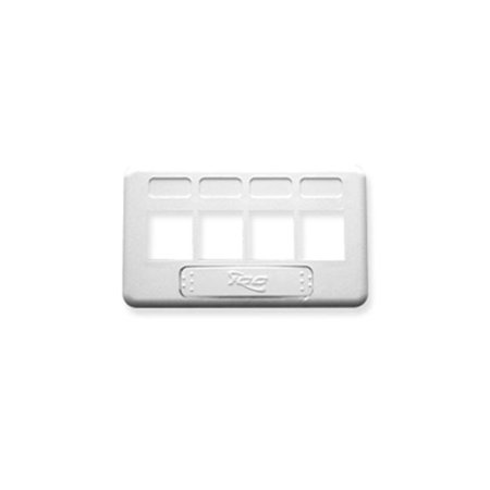 Faceplate  Furniture  Tia  4-Port  White - image 1 of 1