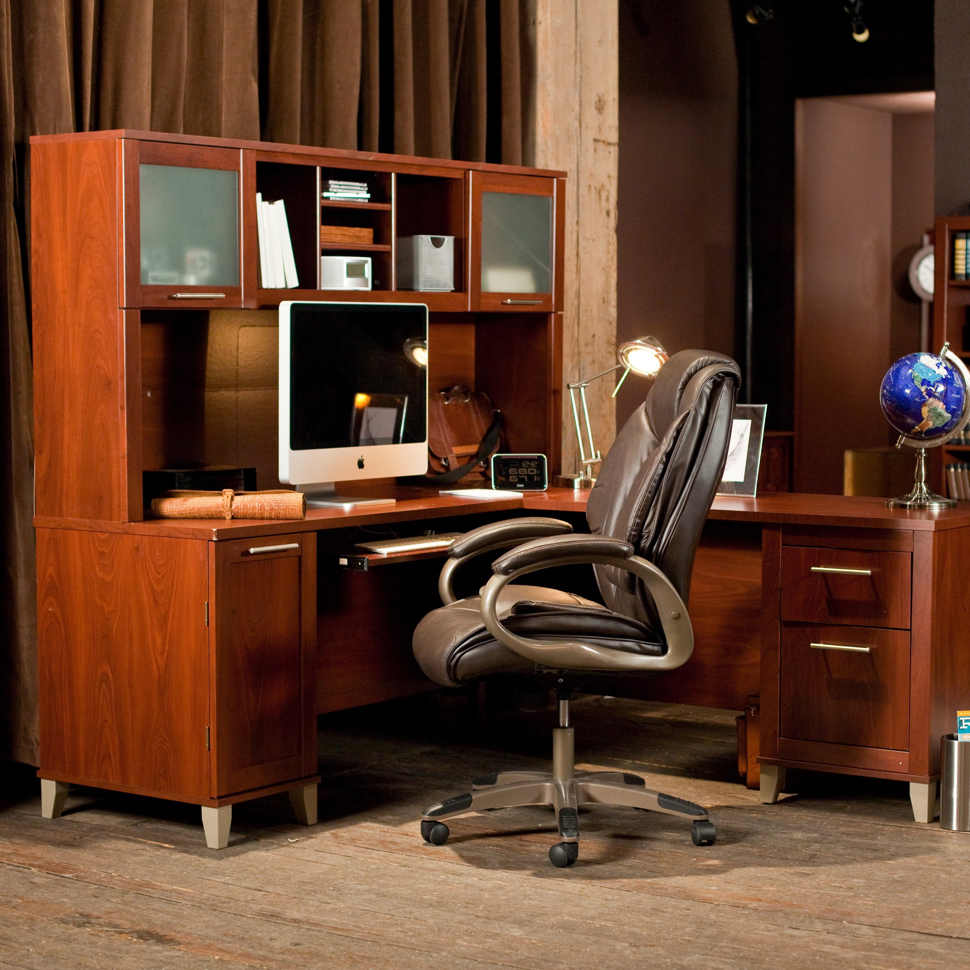 Bush Somerset Cherry 71 in. Computer Desk with Options