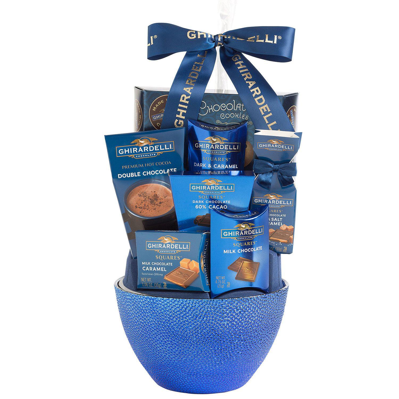Ghirardelli Chocolate Treats Gift Basket, Blue - Walmart.com