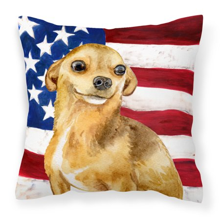 Chihuahua Patriotic Fabric Decorative Pillow BB9658PW1818](Patriotic Pillows)
