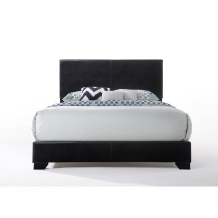 Acme Ireland Full Faux Leather Bed, Black