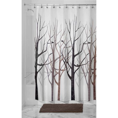 Shower Curtains cotton shower curtains : InterDesign Forest Fabric Shower Curtain, 72