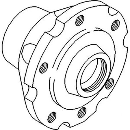 674381M92 Front Wheel Hub For Massey Ferguson 4500 20C 30B 30D 40B 235 245