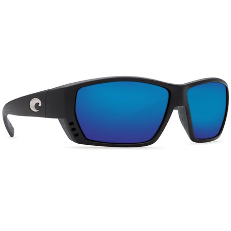 4780868d06e89 Costa Del Mar - Costa Del Mar Tuna Alley Matte Black Square Sunglasses Blue  Lens 580G - Walmart.com