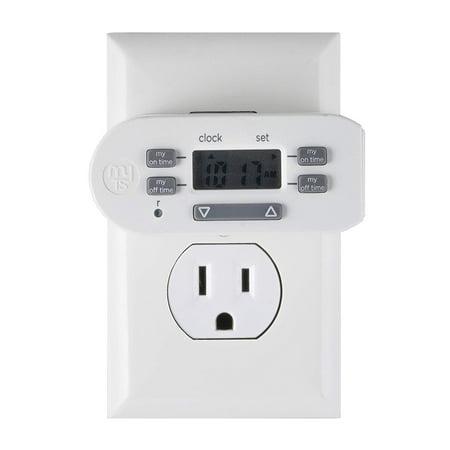 myTouchSmart Simple Set Indoor Plug-In Digital Timer, 1-Outlet, (Digital Lamp Timer)