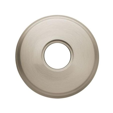 Satin Nickel Estate Egg - Baldwin 5075056 Pair Of Estate Rosettes For Passage Function, Lifetime Satin Nickel