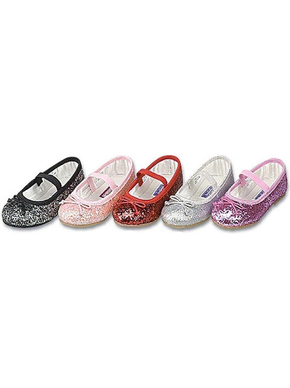 Red Glitter Slip On Dress Shoes