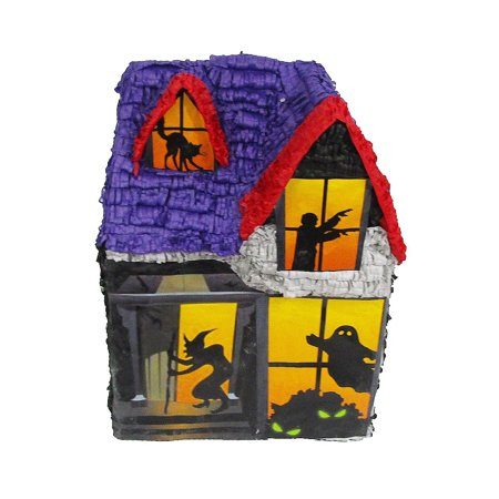 Halloween Haunted House Pinata, Party Game, Centerpiece Decoration and Photo Prop