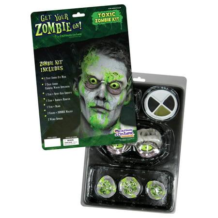 Toxic Zombie Makeup Kit California Costumes - Halloween Zombie Makeup Easy