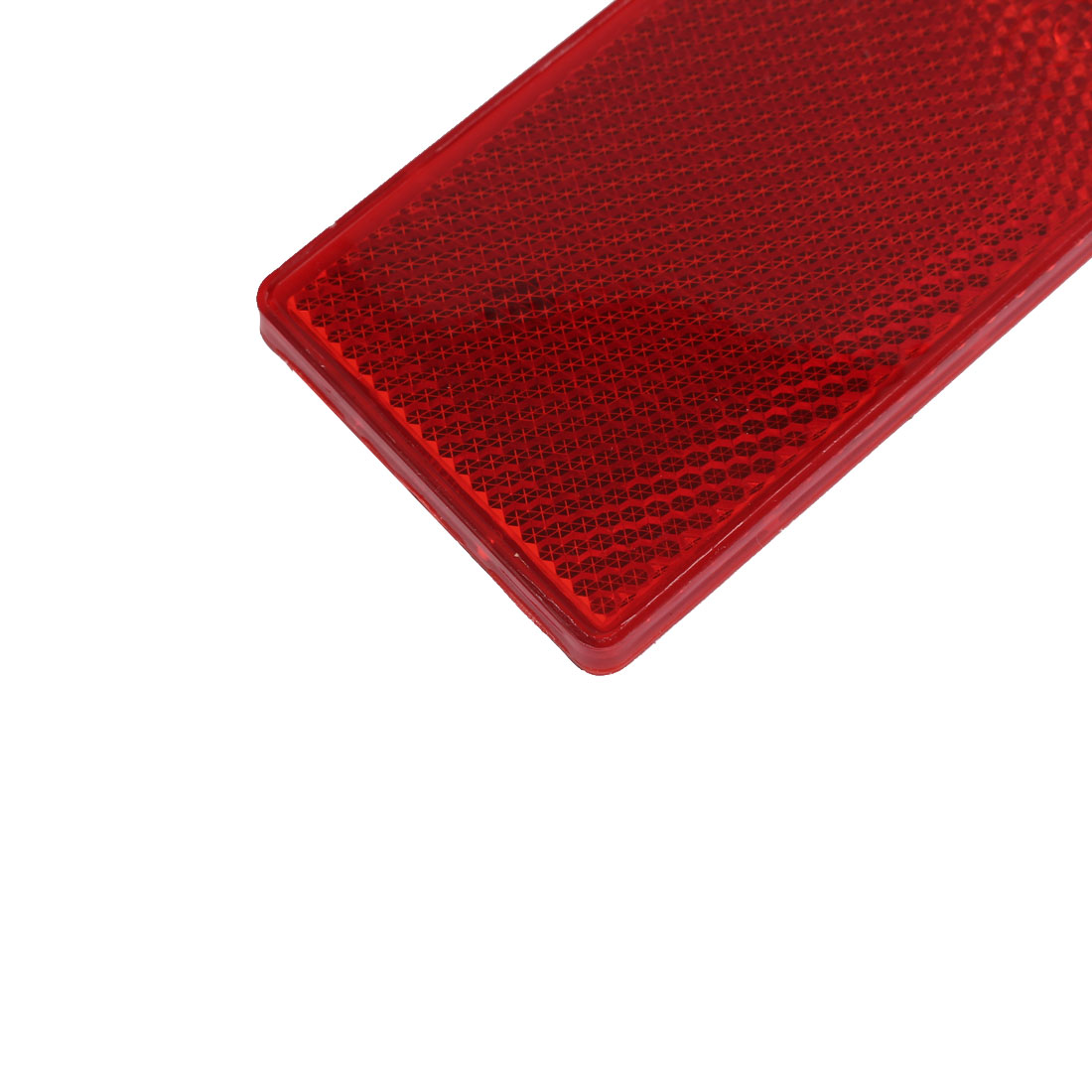 Vehicle Truck Car Plastic Stick-On Reflective Rectangle Reflector Red 4 Pcs - image 1 of 4
