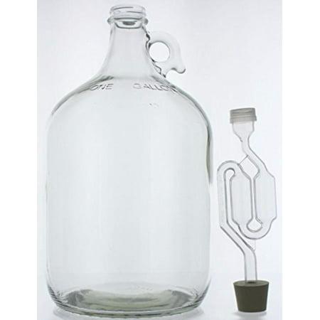 1 Gallon Glass Wine Fermenter-INCLUDES Rubber Stopper and Twin Bubble - Bubbles Glasses For Sale