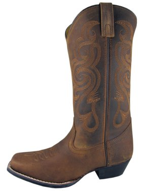Smoky Mountain Boots Womens Lariat Brown Oil Leather Western Square Toe 9 M