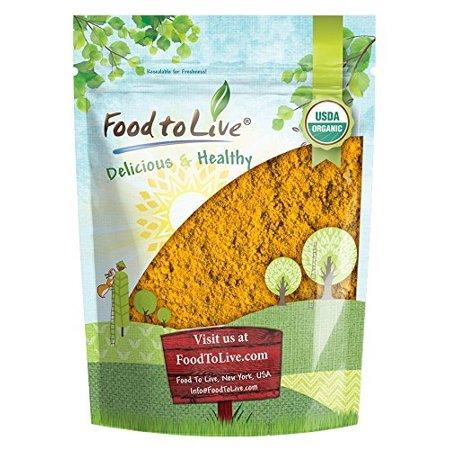 Organic Turmeric Powder, 8 Ounces - High in Curcumin, Non-GMO, Ground Turmeric Root, Raw, Kosher, Vegan, Bulk - by Food to Live