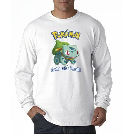 New Way 563 - Unisex Long-Sleeve T-Shirt Pokemon Go Gotta Catch 'Em All Bulbasaur