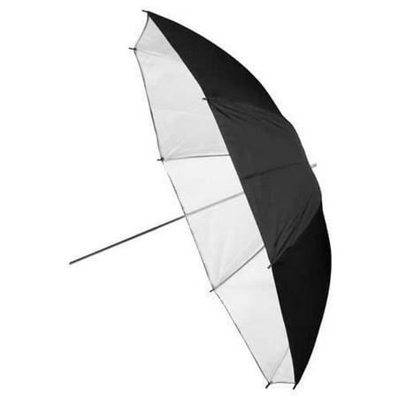 Pro Premium Grade Studio Umbrella - 33in Black & White Reflective with Neutral White (Reflective Umbrella)