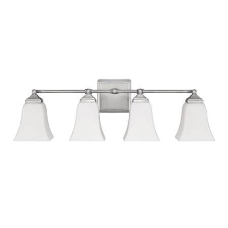 Capital Lighting  Brushed Nickel 4 Light Vanity Fixture