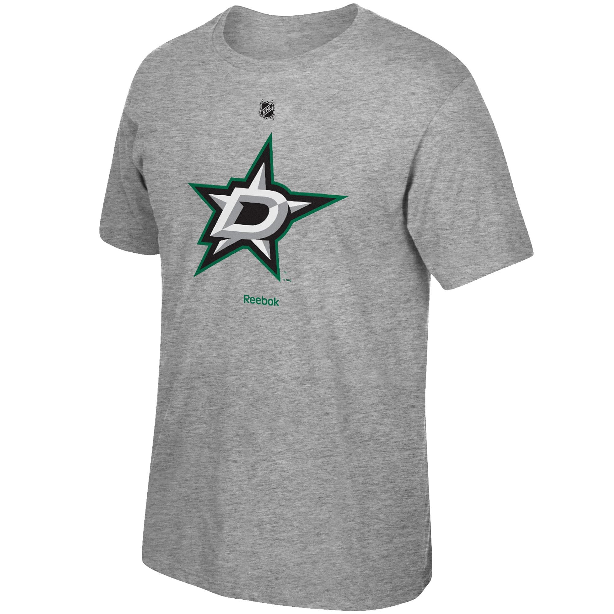 Dallas Stars Reebok Men's Primary Logo T-Shirt - Gray