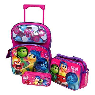 inside out disney pixar large 16 rolling backpack roller ...
